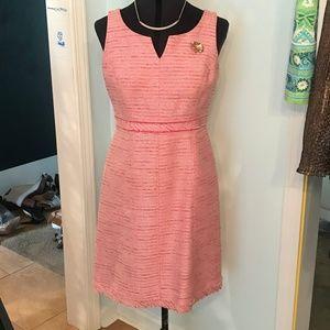 Pink Tweed Dress Size 2 White House Black Market